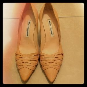 Shoes Manolo Blahnik Leather PaleCoral 7.5